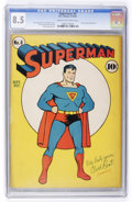 Golden Age (1938-1955):Superhero, Superman #6 (DC, 1940) CGC VF+ 8.5 Cream to off-white pages....