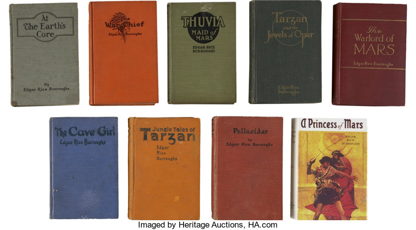 Edgar Rice Burroughs Nine First Editions Including Total