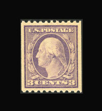 #489, 1917, 3c Violet, SUP 98 PSE. (Original Gum - Never Hinged)