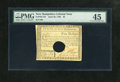 Colonial Notes:New Hampshire, New Hampshire April 29, 1780 $5 PMG Choice Extremely Fine 45,HOC....