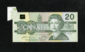 Canadian Currency: , BC-58a $20 1991.. ...