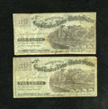 Obsoletes By State:Iowa, Davenport, IA- J.C. Washburn 10¢ Two Examples Nov. 1, 1862. ...(Total: 2)