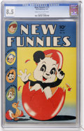 Golden Age (1938-1955):Funny Animal, New Funnies #75 (Dell, 1943) CGC VF+ 8.5 Cream to off-whitepages....