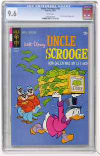 Uncle Scrooge #95 (Gold Key, 1971) CGC NM+ 9.6 White pages