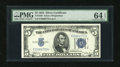 Small Size:Silver Certificates, Fr. 1650 $5 1934 Mule Silver Certificate with rare E-A block. PMG Choice Uncirculated 64 EPQ....