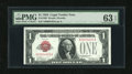 Small Size:Legal Tender Notes, Fr. 1500 $1 1928 Legal Tender Note with low #4453. PMG Choice Uncirculated 63 EPQ....