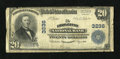 National Bank Notes:West Virginia, Charleston, WV - $20 1902 Plain Back Fr. 650 The Charleston NB Ch.# 3236. ...