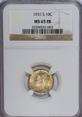 Mercury Dimes: , 1931-S 10C MS65 Full Bands NGC. NGC Census: (10/5). PCGS Population (49/43). Mintage: 1,800,000. Numismedia Wsl. Price for ...