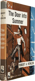 Books:Fiction, Robert A. Heinlein. The Door into Summer. Garden City:Doubleday & Co., 1957. First edition....