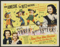 "Movie Posters:Adventure, The Three Musketeers (20th Century Fox, 1939). Half Sheet (22"" X28"") and Lobby Card (11"" x 14""). Adventure.. ... (Total: 2 Items)"