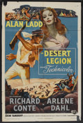 "Movie Posters:Adventure, Desert Legion (Universal, 1953). One Sheet (27"" X 41""). Adventure....."