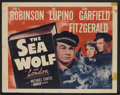 "Movie Posters:Adventure, The Sea Wolf (Warner Brothers, R-1947). Half Sheet (22"" X 28"").Adventure.. ..."
