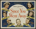 "Movie Posters:Drama, Since You Went Away (United Artists, 1944). Half Sheet (22"" X 28""). Drama.. ..."