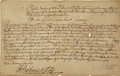 """Autographs:Statesmen, William Burnet Manuscript Document Signed """"W. Burnet"""" asColonial Governor of New York and New Jersey, one page ..."""