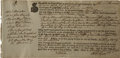 "Autographs:Statesmen, John Hancock Partly Printed Ship's Bill of Lading Filled outEntirely in His Hand, Including his Handwritten Surname,""H..."