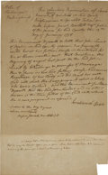 "Autographs:Statesmen, Josiah Bartlett Autograph Document Signed Twice. One page, 7.75"" x12.5"", Rockingham County, New Hampshire, January 12, 1778..."