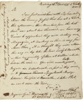 Autographs:Military Figures, [Revolutionary War: Battle of Ridgefield] Major General DavidWooster Letter Signed. Two pages including integral address l...