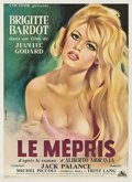 """Movie Posters:Drama, Le Mepris (Cocinor, 1963). French Affiche Moyenne (22.5"""" X 31"""").. ..."""