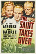 """Movie Posters:Mystery, The Saint Takes Over (RKO, 1940). One Sheet (27"""" X 41"""").. ..."""