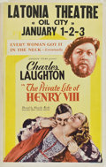 """Movie Posters:Drama, The Private Life of Henry VIII (United Artists, 1933). Window Card(14"""" X 22"""").. ..."""