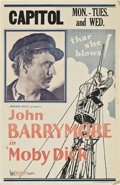 "Movie Posters:Adventure, Moby Dick (Warner Brothers, 1930). Window Card (14"" X 22"").Adventure.. ..."