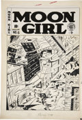 Original Comic Art:Covers, Sheldon Moldoff Moon Girl #6 Cover Original Art (EC,1949)....