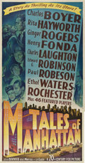"Movie Posters:Drama, Tales of Manhattan (20th Century Fox, 1942). Three Sheet (41"" X81"").. ..."