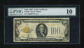 Small Size:Gold Certificates, Fr. 2405 $100 1928 Gold Certificate. PMG Very Good 10.. ...