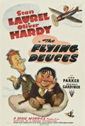 "Movie Posters:Comedy, The Flying Deuces (RKO, 1939). One Sheet (27"" X 41"").. ..."