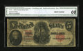 Large Size:Legal Tender Notes, Fr. 91 $5 1907 Legal Tender CGA Very Good 08....
