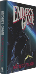 Books:Signed Editions, Orson Scott Card. Ender's Game. New York: Tor Books, [1985]....