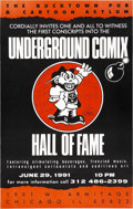 Memorabilia:Poster, Underground Comix Hall of Fame Signed Poster and Others (1991)....(Total: 4 Items)