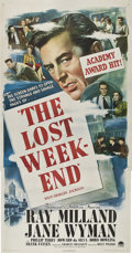 "Movie Posters:Drama, The Lost Weekend (Paramount, 1945). Three Sheet (41"" X 81"").. ..."