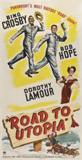 "Movie Posters:Comedy, Road to Utopia (Paramount, 1946). Three Sheet (41"" X 81"").. ..."