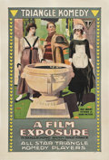 "Movie Posters:Comedy, A Film Exposure (Triangle, 1917). One Sheet (27"" X 41"").. ..."