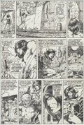 Original Comic Art:Panel Pages, Barry Smith, Tom Sutton, and Tom Palmer Conan the Barbarian#8 page 5 Original Art (Marvel, 1971)....