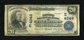 National Bank Notes:Maryland, Hagerstown, MD - $20 1902 Plain Back Fr. 652 The Second NB Ch. #(E)4049. ...