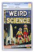 Golden Age (1938-1955):Science Fiction, Weird Science #7 (EC, 1951) CGC VF 8.0 Off-white pages....