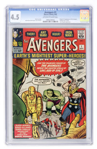 The Avengers #1 (Marvel, 1963) CGC VG+ 4.5 Off-white to white pages