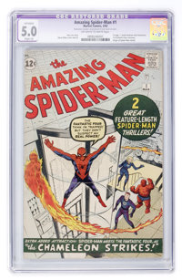 The Amazing Spider-Man #1 (Marvel, 1963) CGC Apparent VG/FN Slight (A) 5.0 Off-white to white pages