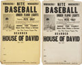 Baseball Collectibles:Others, Circa 1940s-50s Pete Gray and the House of David Posters Lot of2....