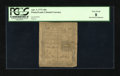 Colonial Notes:Pennsylvania, John Morton Signature Pennsylvania April 3, 1772 18d PCGS Very Good08....