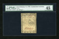 Colonial Notes:Continental Congress Issues, Continental Currency February 17, 1776 $1/2 PMG Choice Extremely Fine 45....