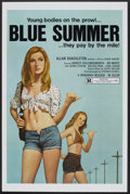 "Movie Posters:Sexploitation, Blue Summer (Monarch, 1973). One Sheet (27"" X 41"") Flat-Folded.Sexploitation.. ..."