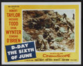 "Movie Posters:War, D-Day The Sixth of June (20th Century Fox, 1956). Lobby Card Set of8 (11"" X 14""). War.. ... (Total: 8 Items)"