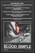 """Movie Posters:Thriller, Blood Simple (Circle Films, 1985). Poster (24"""" X 36.75""""). Thriller.. ..."""