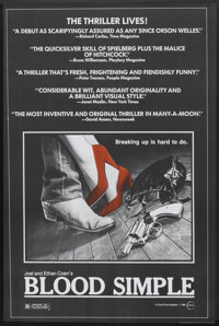 "Blood Simple (Circle Films, 1985). Poster (24"" X 36.75""). Thriller"