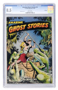 Golden Age (1938-1955):Horror, Amazing Ghost Stories #14 Bethlehem pedigree (St. John, 1954) CGCVF+ 8.5 White pages....