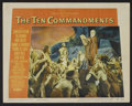 "Movie Posters:Historical Drama, The Ten Commandments Lot (Paramount, 1956). Title Card and LobbyCard (11"" X 14""). Historical Drama.. ... (Total: 2 Items)"