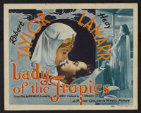 """Lady of the Tropics (MGM, 1939). Title Lobby Card and Lobby Cards (6) (11"""" X 14""""). Romance. ... (Total: 7 Item..."""